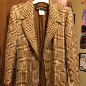 Escada gold brown blazer
